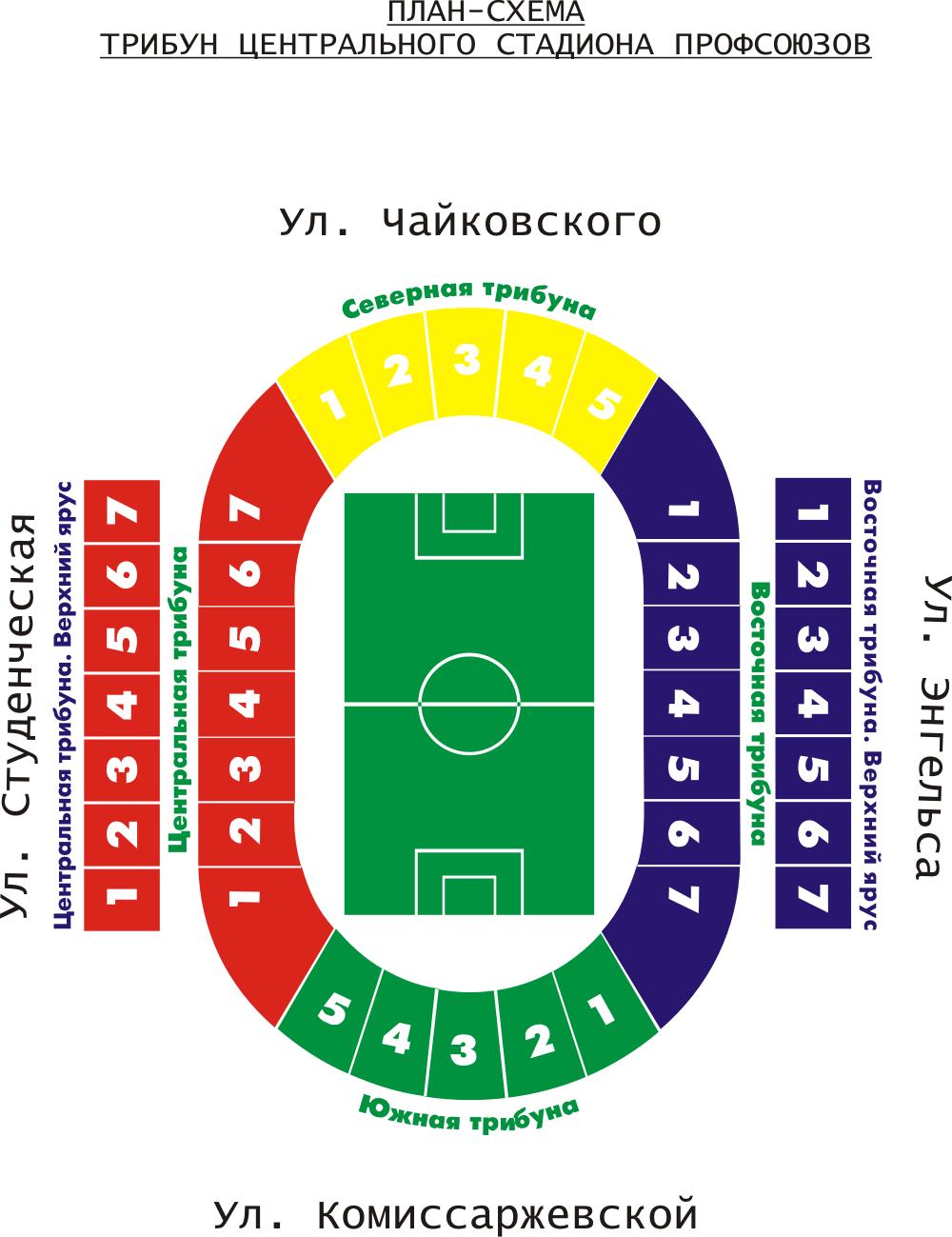 Стадион астрахань схема